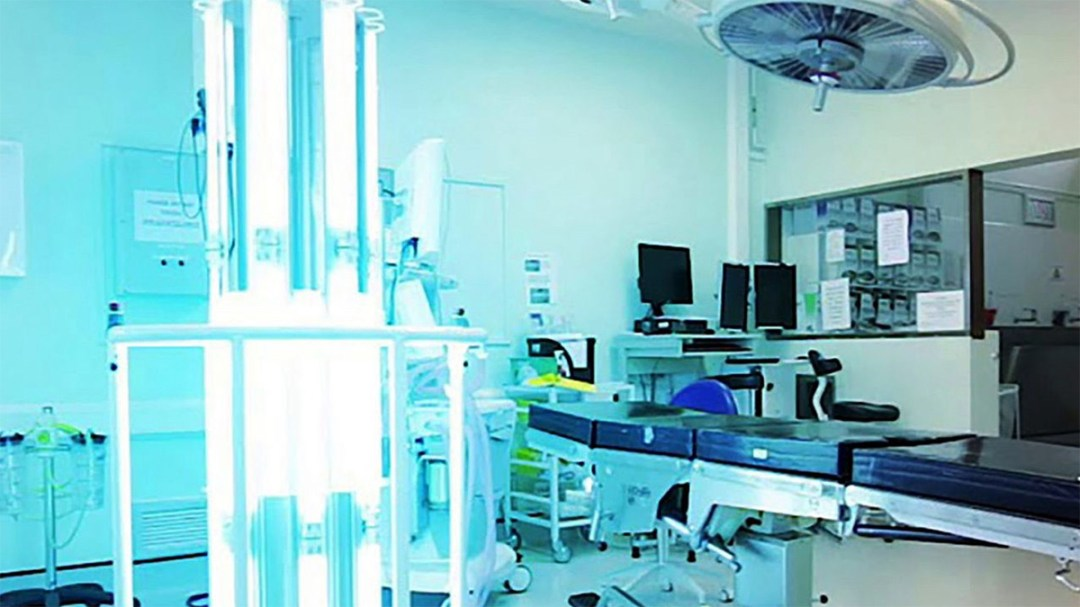 Thor-2 UVC light disinfecting robot