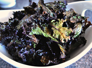 Crispy Red Kale Chips