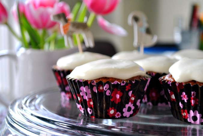 Carrot Cake Cupcakes with honey instead of white sugar! The recipe includes a gluten free option as well.