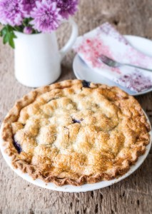 Gluten Free Black Raspbery and Cherry Pie