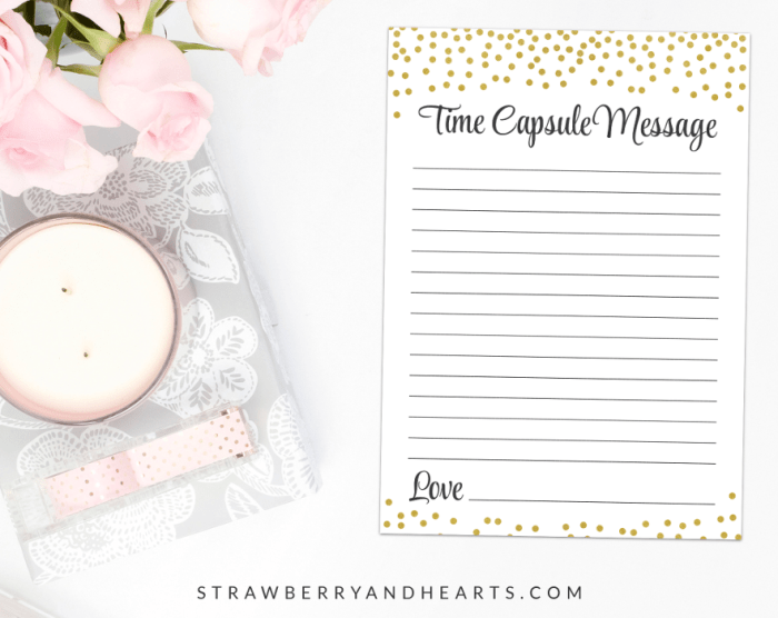 Gold Confetti Time Capsule, Baby Shower Game, Gender Neutral, Printable File, SH21