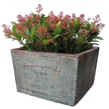 Errington Reay-83-stone-400x400 square planter available from strawberry garden centre uttoxeter