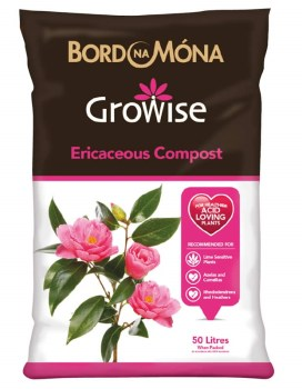 Growise ericaceous compost 50 litres available from strawberry garden centre uttoxeter