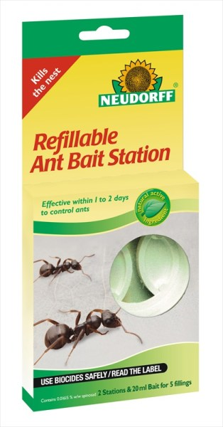 Neudorff Refillable Ant Bait Station available from Strawberry Garden Centre Uttoxeter