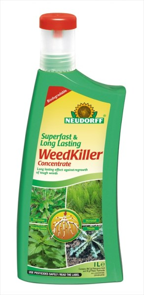 Neudorff Superfast WeedKiller_Concentrate_1ltr available from Strawberry Garden Centre Uttoxeter