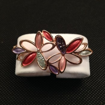Equilibrium 64525 Warm Tones 2 Flowers Half Bracelet available from Strawberry Garden Centre,