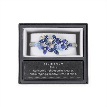 Equilibrium Cool Tones Flowers Half Bracelet 64505 available from Strawberry Garden Centre, Uttoxeter