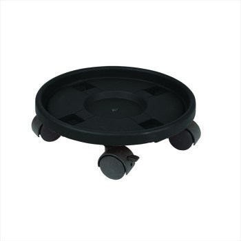 Gardman 09047 Black Plastic Trolley for Pots available from Strawberry Garden Centre, Uttoxeter