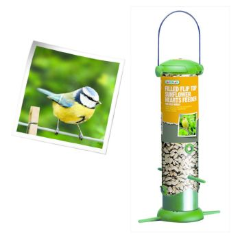 Gardman A02236 filled premium sunflower hearts feeder available from Strawberry Garden Centre, Uttoxeter