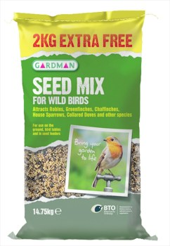 Gardman A05449 Seed Mix 14.75kg for Wild Birds available from Strawberry Garden Centre, Uttoxeter