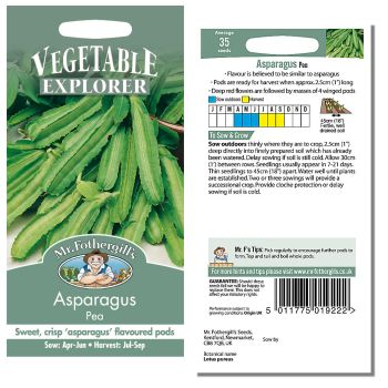 Mr. Fothergill Asparagus Pea Seeds available from Strawberry Garden Centre, Uttoxeter