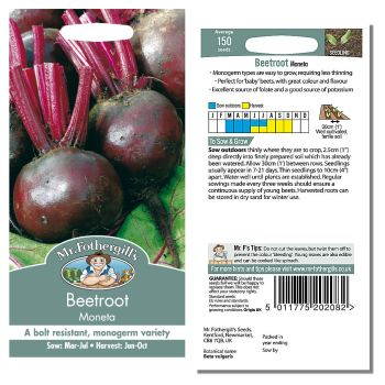 Mr. Fothergill Beetroot Moneta Seeds available from Strawberry Garden Centre, Uttoxeter