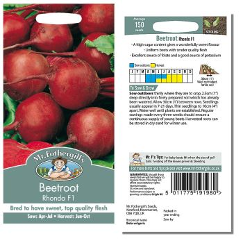 Mr. Fothergill Beetroot Rhonda F1 Seeds available from Strawberry Garden Centre, Uttoxeter