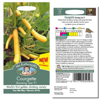Mr. Fothergill Courgette Shooting Star F1 Seeds available from Strawberry Garden Centre, Uttoxeter