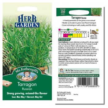 Mr. Fothergill Tarragon Russian Seeds available from Strawberry Garden Centre, Uttoxeter