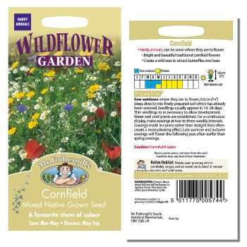 Mr. Fothergill Cornfield Mixed Native Grown Seeds available from Strawberry Garden Centre, Uttoxeter
