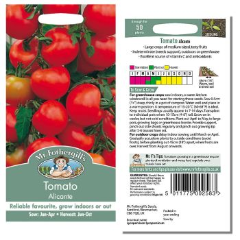 Mr. Fothergill Tomato Alicante Seeds available from Strawberry Garden Centre, Uttoxeter