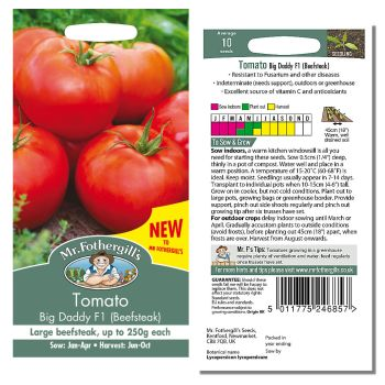 Mr. Fothergill Tomato Big Daddy F1 (beefsteak) Seeds available from Strawberry Garden Centre, Uttoxeter