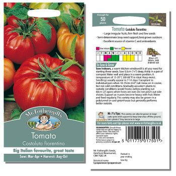 Mr. Fothergill Tomato Costoluto fiorentino Seeds available from Strawberry Garden Centre, Uttoxeter