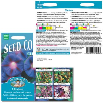 Mr. Fothergill Climbers Seed Collection Seeds available from Strawberry Garden Centre, Uttoxeter