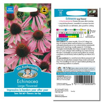 Mr. Fothergill Echinacea Large Flowered Seeds available from Strawberry Garden Centre, Uttoxeter