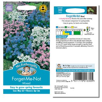 Mr. Fothergill Forget me Not Mixed Seeds available from Strawberry Garden Centre, Uttoxeter