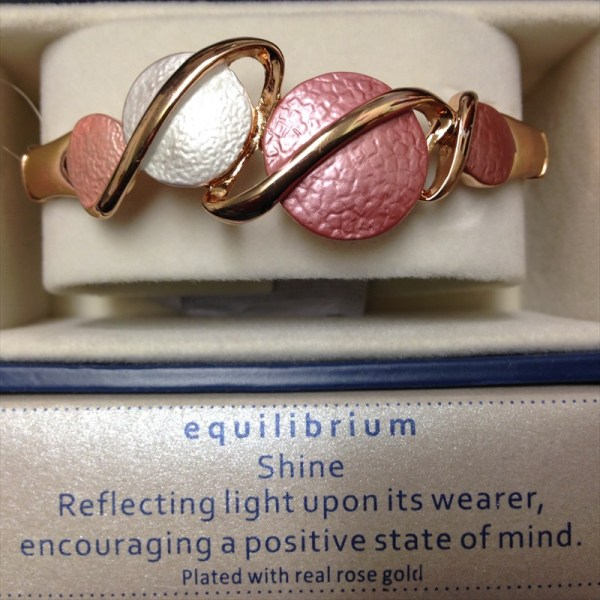 Equilibrium 274330 rose gold plated dusky tones circle half bracelet available from Strawberry Garden Centre, Uttoxeter