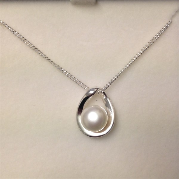 Equilibrium 274355A freshwater pearl teardrop shaped necklace available from Strawberry Garden Centre, Uttoxeter