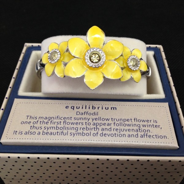 Equilibrium 274412 Daffodil Bangle Bracelet available from Strawberry Garden Centre, Uttoxeter