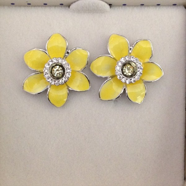 Equilibrium 274414 Radiant Daffodil Earrings available from Strawberry Garden Centre, Uttoxeter