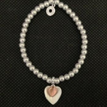Equilibrium 274460 Matt Silver Plated Bead Heart Bracelet available from Strawberry Garden Centre, Uttoxeter