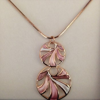 Equilibrium 274552A Dusky Tones Swirl Necklace available from Strawberry Garden Centre, Uttoxeter