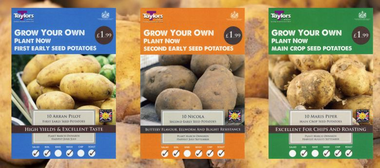 Seed Potatoes available from Strawberry Garden Centre, uttoxeter