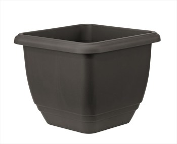 Stewart Plastics Balconniere Black Square Planter available from Strawberry Garden Centre, Uttoxeter