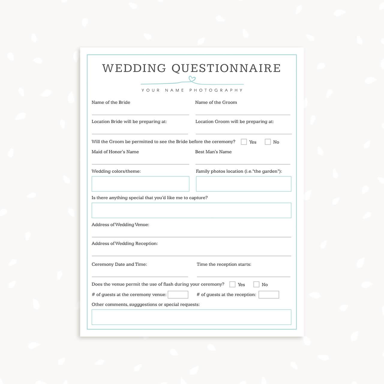 client questionnaire template