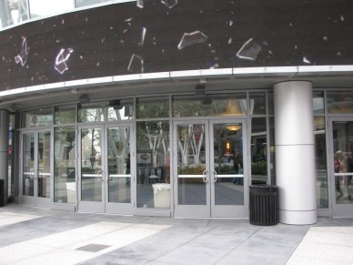 The doors going into the Nokia Theater... Metal detectors are on the other side of those doors... Memories...