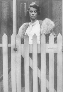 Mary Lowber Sailer with Fence