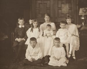 Mary Sailer at Right with Her Siblings