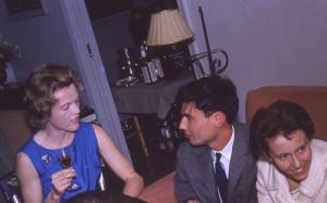Sally Deaver, Bill White, and Priscilla Litchfield Wilson at Bill White Wedding Party