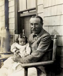 John Sailer with His Granddaughter Alice Sailer, Early 1900s