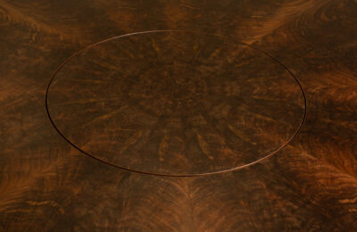 Round Walnut Table And Lazy Susan By Straw Woodwork Gainesville-Florida