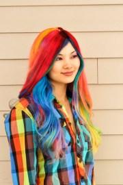 rainbow hair strayhair