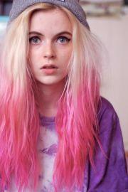 pink hair strayhair