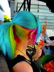 rainbow hair color strayhair