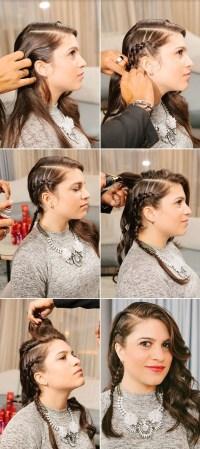 Faux Undercut style side braids  StrayHair