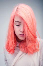 peach unique hair color inspiration