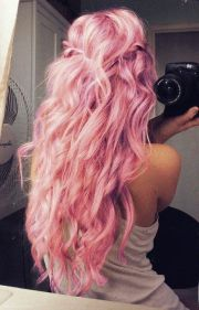 light pastel pink hairstyles