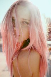light pastel pink hairstyles