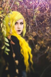 bright yellow hair 7 unique color