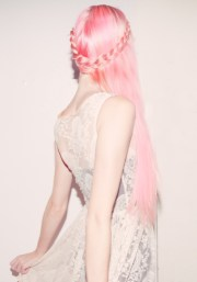 daily hair spotting long pink
